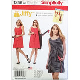 Misses Reversible Wrap Dress Simplicity 1356 Sewing Pattern Size 6-14 c2601