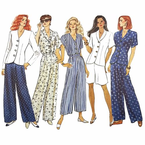 Misses Top Shorts Pants Butterick 3375 Sewing Pattern 1994 Size 12-16 c2498