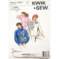 Misses Tops Kwik Sew 1631 Sewing Pattern Vintage 1987 Size XS-L Retro c2663