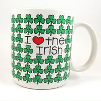 I Heart the Irish Coffee Mug Cup Vintage 1986 10oz Shamrock St Patricks Day k336