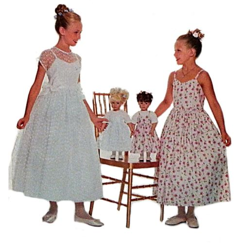 Girls Dress 18 in Doll Jumper Top Butterick 5965 Pattern Size 7 8 10 Sewing c867