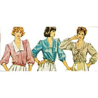 Misses Blouse Simplicity 6300 Sewing Pattern Vintage 1983 Size 12-16 c2732