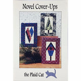 Novel Cover Ups Mass Market Paperback Quilt Pattern Sewing Plaid Cat c2427