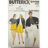 Misses Jacket Top Shorts Butterick 4428 Sewing Pattern Vintage Size 16 c2595