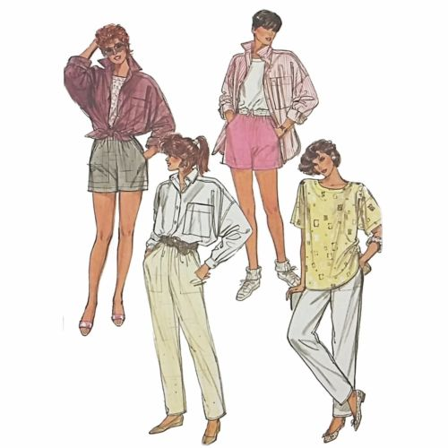 Misses Shirt Top Pants Shorts Simplicity 7281 Sewing Pattern Size 10-14 c2408