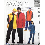 Misses Mens Jacket Vest Pants Hat McCalls 8481 Sewing Pattern Size XL-XXL c2635