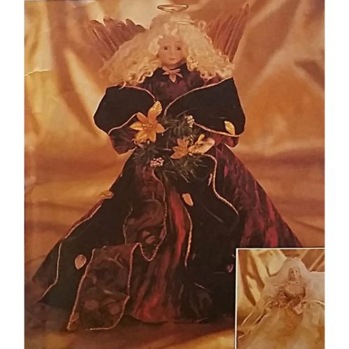 Angels McCalls Crafts 8995 Pattern Vtg 16in Holiday Christmas Decor Hair c1438