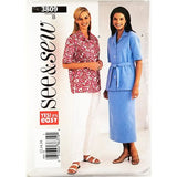 Misses Shirt Skirt Pants See & Sew 3809 Sewing Pattern Vintage Size 12-16 c2670