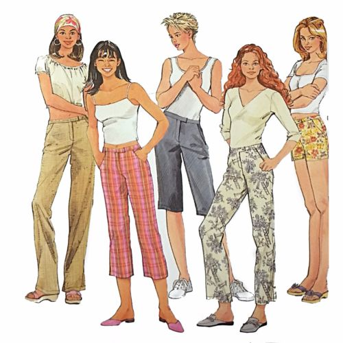 Misses Pants Shorts Simplicity 7196 Sewing Pattern 2002 Size 14 16 18 20 c2501