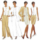 Misses Jacket Top Skirt Pants Butterick 3951 Sewing Pattern Size 12-16 c2496