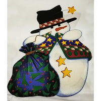 Frosty Friends Wall Hanging Cut & Sew Fabric Panel VIP Cranston Holiday c2657