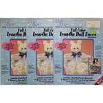 Tabby Cat 57712 Lot of 3 Iron On Doll Faces Transfers Vintage Plaid c2581