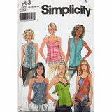 Misses Tops Simplicity 9563 Sewing Pattern Size 12-18 c2350