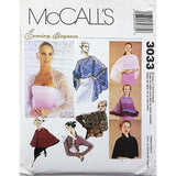 Misses Evening Cover Ups McCalls 3033 Sewing Pattern Evening Elegance c2640