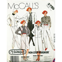 Misses Jacket Skirt Pants McCalls 2798 Sewing Pattern Vintage 1986 Size 10 c2691