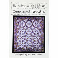 Diamond Trellis Pattern 40 x 40 64 x 80 Sewing Quilting Quilt Country c2428