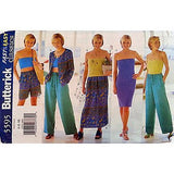 Misses Jacket Dress Top Skirt Shorts Pants Butterick 5595 Pattern 6 8 10 c815