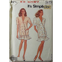 Misses Jackets Flared Skirt Simplicity 7671 Vintage Pattern Size 8 - 20 c705