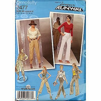 Misses Pants Simplicity 2477 Pattern Project Runway 2009 Size 4 6 8 10 12 c1086
