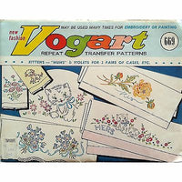 Lot of Vogart Repeat Transfers Vintage 1950's Embroidery Painting Linen Home vo8