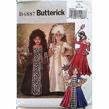 Girls Masquerade Costume Butterick B4887 2006 Size 6-8 Halloween Party c1294