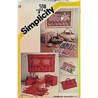 String Quilted Sewing Accessories Wall Hangings Pattern Simplicity 5311 c832
