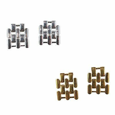 Pantera Link Earrings Drop Polished Silver or Gold Plated e704