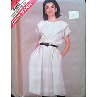 Misses Top Skirt McCalls 8485 Pattern Vintage 1983 Size 14 16 18 c1357
