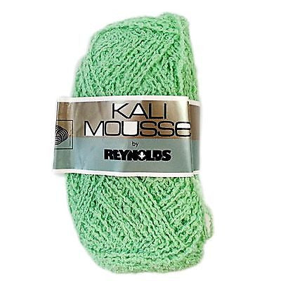 5 Balls Kali Mousse Wool Yarn Vintage Pastel Green Reynolds 50 grams 8 ply c507