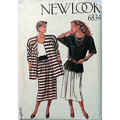 Misses Separates Jacket Shirt Skirt New Look 6834 Vintage Pattern Size 8-18 c869