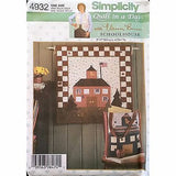 Schoolhouse Quilt Day Wall Hanging Book Bag Simplicity 4932 Pattern 2004 c1179
