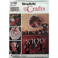 Christmas Ornaments Stockings Wreath Skirt Simplicity Crafts 9796 Pattern c886