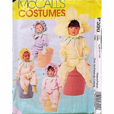 Toddler Flower Costumes Halloween McCalls P390 Pattern 1998 Size 1/2 1 2 c1196