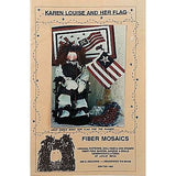 Karen Louise and Her Flag Pattern 29 In Cloth Doll Patriotic Fiber Mosaics c1008