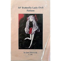 Butterfly Lady Pattern 14 Inch Cloth Doll Vintage 1988 Jeni Haworth c1007