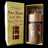 Wooden Salt Mill Vintage San Remo Copper Magic Loop Nut Mr. Dudley with Box k148