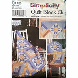 Variable Star Log Cabin Quilt Block Club Simplicity 9169 Pattern 2000 c1171