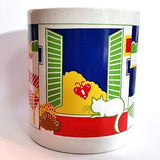 Poolside Cat Summer Coffee Mug Cup Vintage 8oz Colorful Japan k331