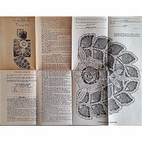 Laura Wheeler Design 933 Crocheted Chair Set Rose Vintage Pattern Crochet am53