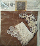 Candlewick Pillow Kit Sandalwood Brown 14 x 14 inch Vintage Lace MH Yarns c235