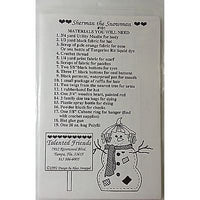 Sherman the Snowman Wall Hanging 23 x 22 in Pattern Winter Talented Friends c790