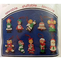 Whimsical Ornaments Kit Puffts Vintage Merri Christmas Stuffed Carousel c893