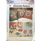 Pillow Cover Patchwork Applique Simplicity 6321 Pattern Vintage 1974 Decor c1172