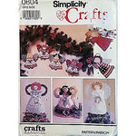 Angel Tree Topper Ornaments Simplicity 0604 Pattern Vintage 1991 Christmas c987
