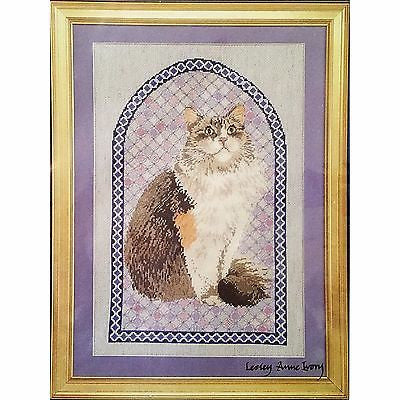 Agneatha Cathedral Patchwork Counted Cross Stitch Kit Ivory Cats Designs c1250