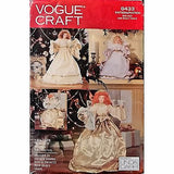 Angels Dolls Vogue Craft 8433 Pattern Vintage 1992 Christmas Holiday