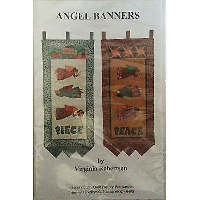 Angel Banners Quilt Pattern Wall Hangings Holiday Peace Sewing Piece C311