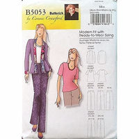 Misses Jacket Blouse Pants Butterick B5053 Pattern 2007 Crawford Size 4-16 c1087