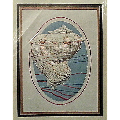 Oceans Treasure Sculptured Stitchery 1984 Seashell Conch Monarch Horizons c128