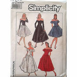 Misses Dress Fitted Bodice Simplicity 8383 Vintage 1987 Pattern Size 6-10 c1308
